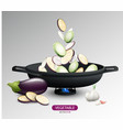 realistic fresh vegetables cooking concept vector image