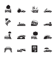 Silhouette transportation insurance and risk icons vector image