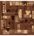 coffee seamless background vector image vector image