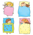 kids sleeping vector image