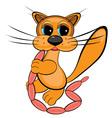 cartoon sausages cat vector image