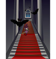 Gothic Stairs and Witch vector image