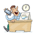 It is time for coffee vector image
