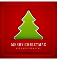 Christmas Tree and Holidays wish Happy New Year vector image vector image