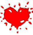 red heart splash vector image vector image