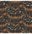 Seamless pattern for hunting theme With deer duck vector image