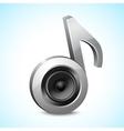 Audio speaker note vector image
