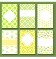 Baby Shower Card Templates vector image