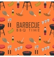 BBQ time seamless pattern Barbecue grill concept vector image
