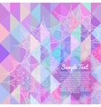 Invitation card with abstract geometric background vector image