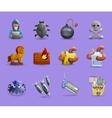 Malicious Software Icons Set vector image