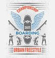 poster in retro style for skateboarding vector image