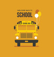 school bus with balloons vector image