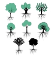 Trees collection vector image