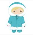 baby in winter dress vector image