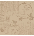 Coffee background with texture vector image