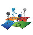 People figures and business arrows vector image vector image