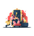 king with crown asleep vector image
