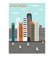 Stylized Chicago city vector image