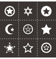 stars icon set vector image
