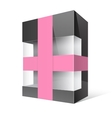Black Realistic Package Cardboard Box vector image vector image