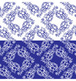 flowers blue seamless 3 380 vector image