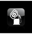fuel cost icon vector image vector image