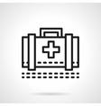 Medical case black line icon vector image