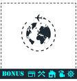 Around world icon flat vector image