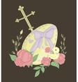 big Easter egg vector image