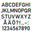 font letters in color channel vector image