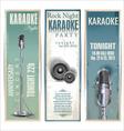 Karaoke background vector image
