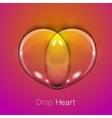 Liquid transparent heart vector image