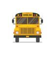 school bus front view vector image