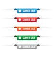 Summer sale paper tag labels vector image
