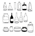 Bottles and Cans vector image