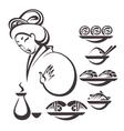 japan food vector image vector image