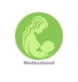 motherhood concept logo design with woman vector image