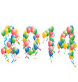 2014 new year balloons background vector image