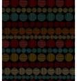 Seamless geometric ornamental pattern vector image