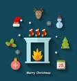 Christmas Minimal Objects and Elements vector image vector image