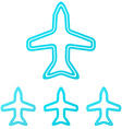 Cyan line aircraft logo design set vector image