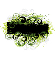 green and black border vector image