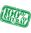 Grunge 100 percent natural rubber stamp vector image