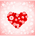 Heart from circles vector image