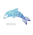 ornamental dolphin vector image