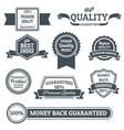 Quality labels black set vector image