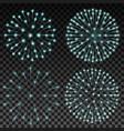 set of fireworks on transparent background vector image