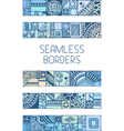 Set of seamless geometric borders vector image