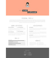 Creative cv template with paper stripes vector image vector image